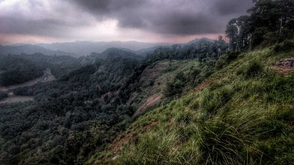 Cloudy skies and the Western Ghats